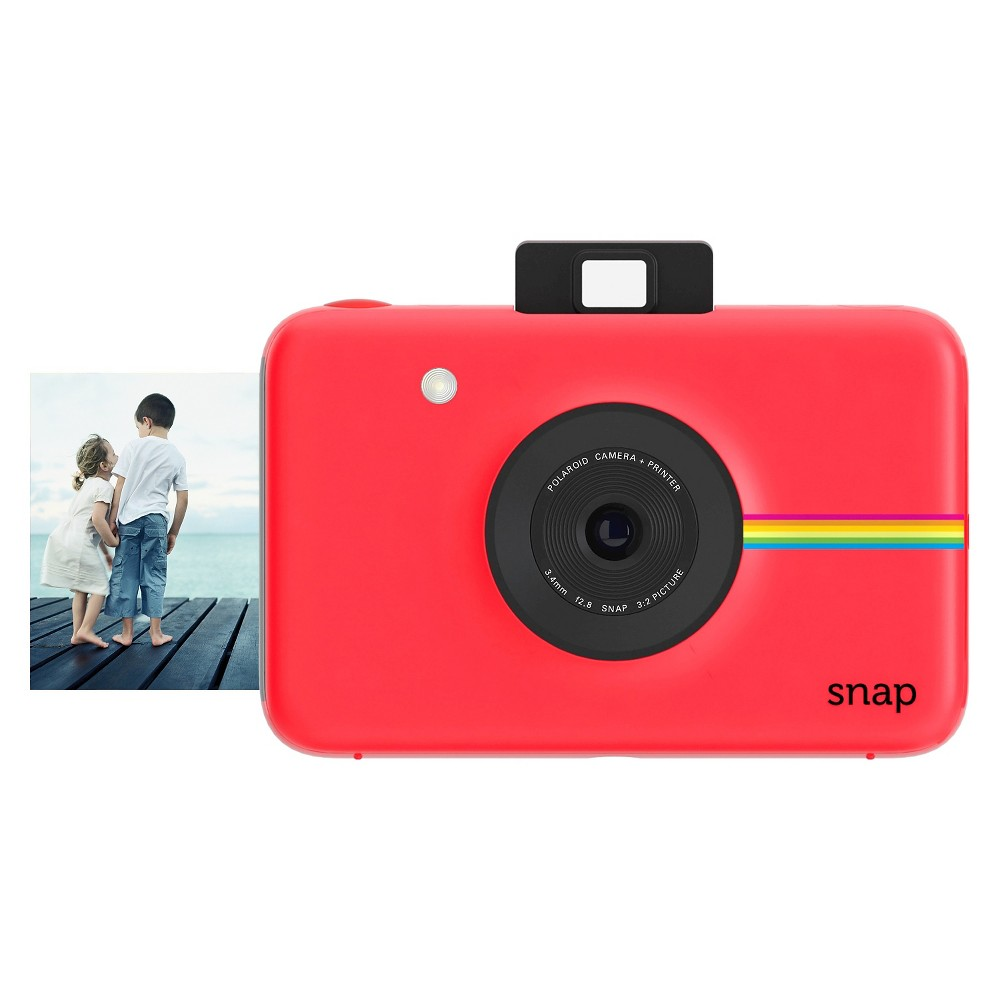 Polaroid Snap Instant Digital Camera - Red The Polaroid Snap Instant Digital Camera in Red lets you print photos as soon as you take them. This Polaroid digital camera has three filter options and a border to make your photos fun.