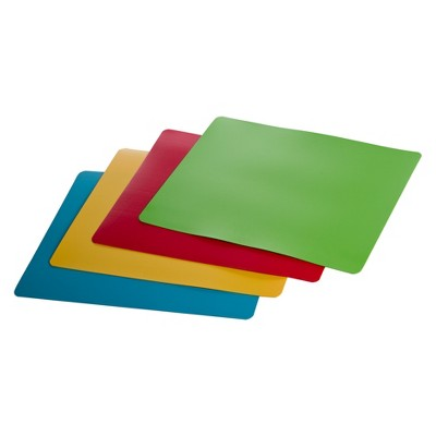 Progressive International Flexible Chopping Mats - Blue/ Green (4 Pc)