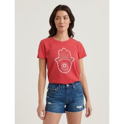 Lucky Brand Women's Hamsa Tee - Fiery Red