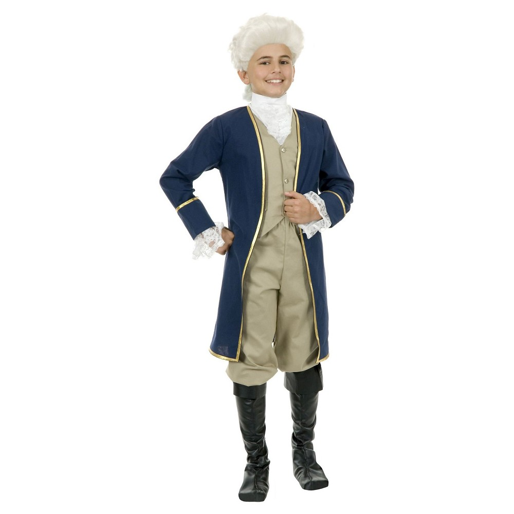 Kids' George Washington Costume - M(8-10), Boy's, Blue