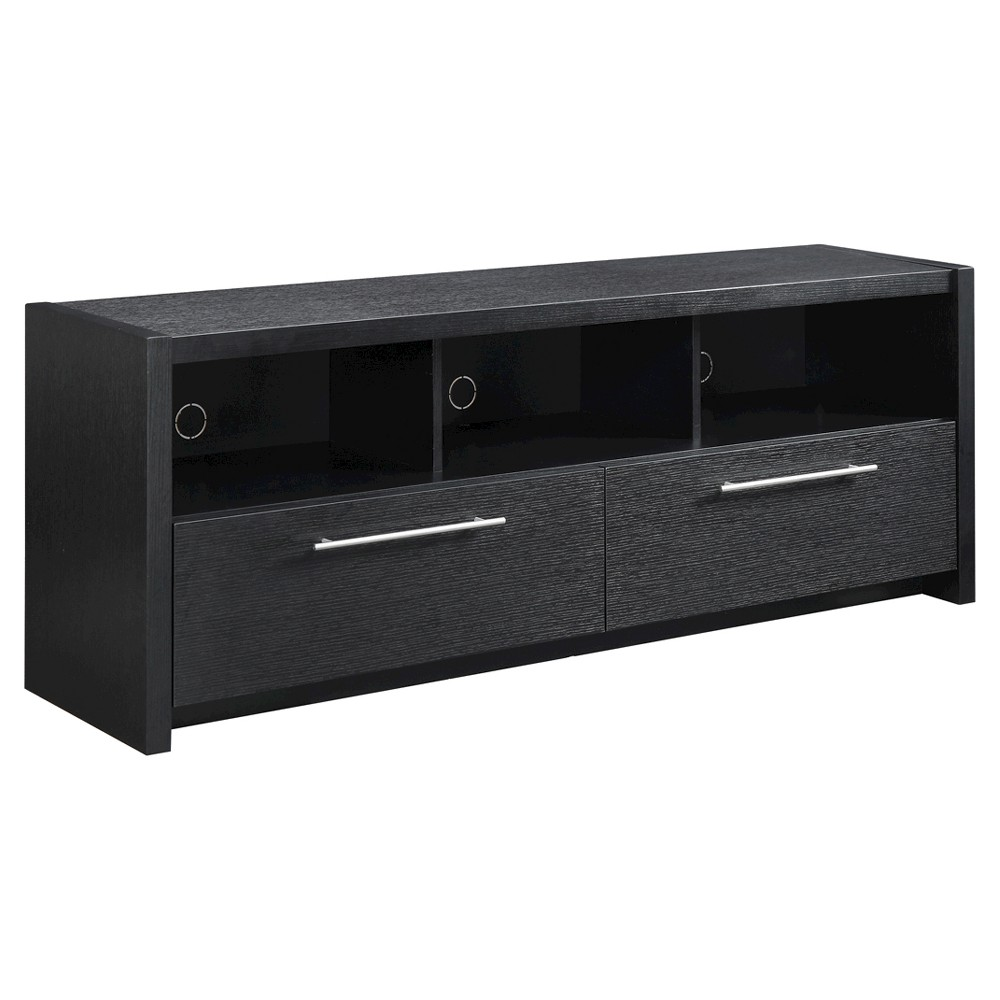 Newport Marbella TV Stand - Black - Convenience Concepts