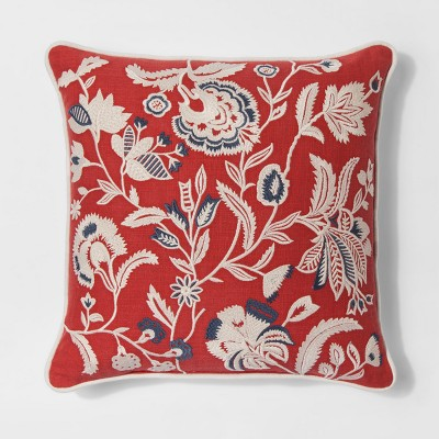 Red Jacobean Floral Throw Pillow - Threshold™