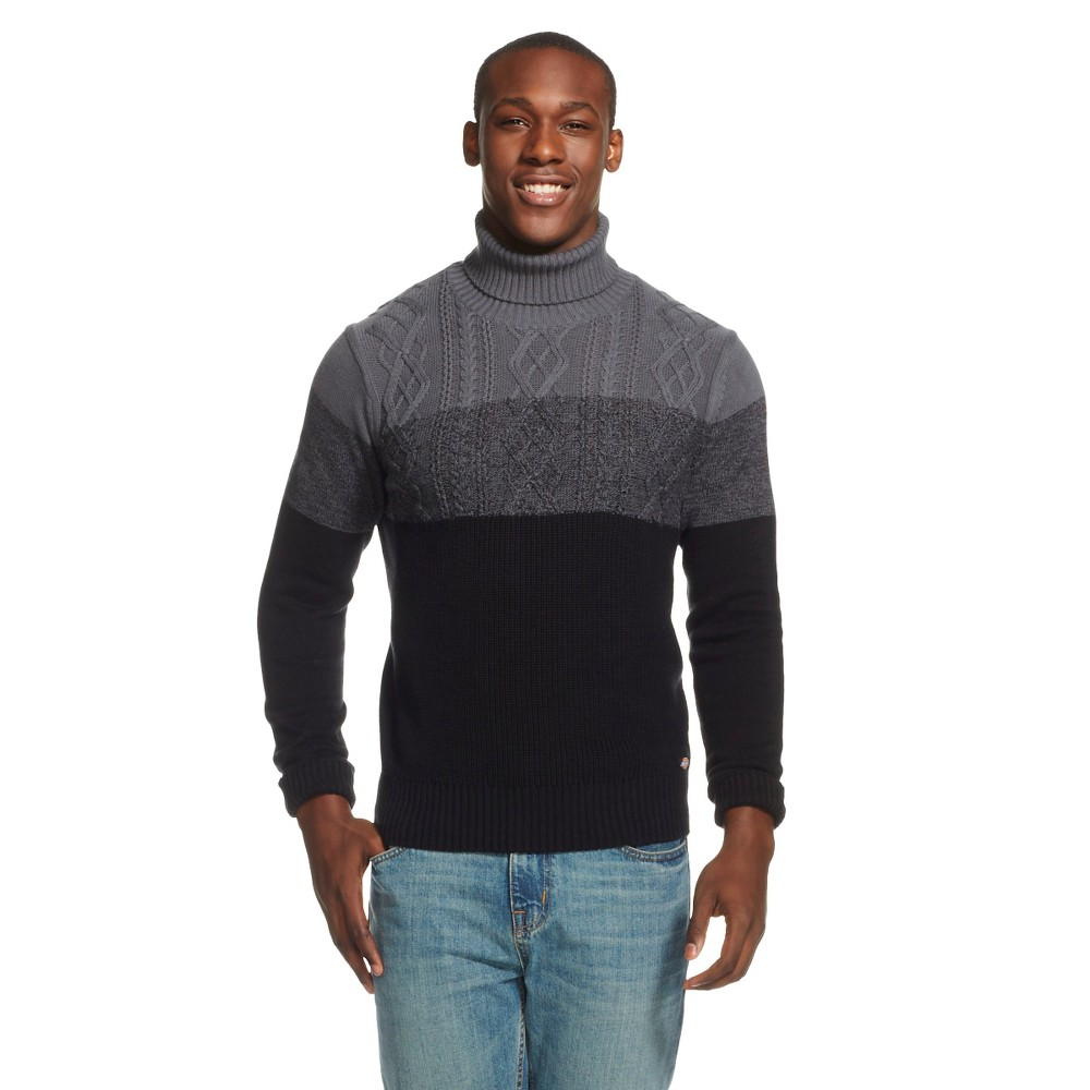 Dickies - Men's Colorblocked Turtleneck Black XL