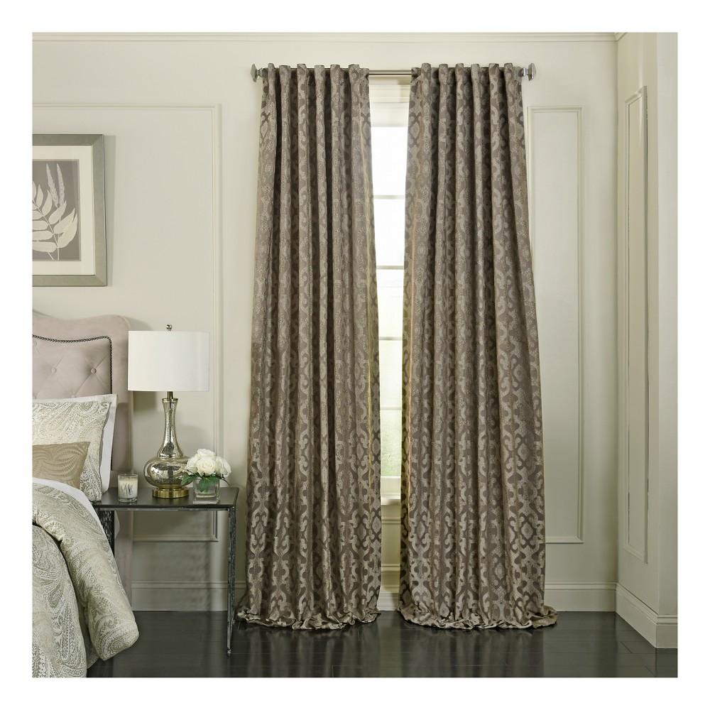 Normandy Blackout Window Curtain Mushroom (Brown)/Trellis 52x108 - Beautyrest