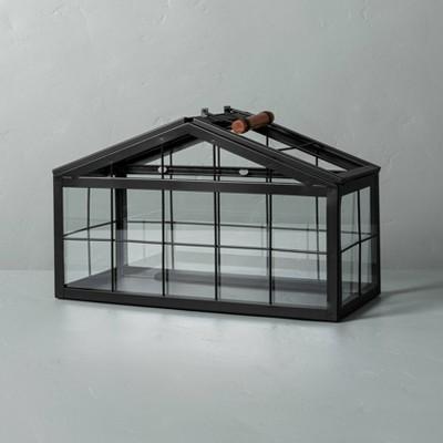Rectangular Metal & Glass Terrarium Black - Hearth & Hand™ with Magnolia