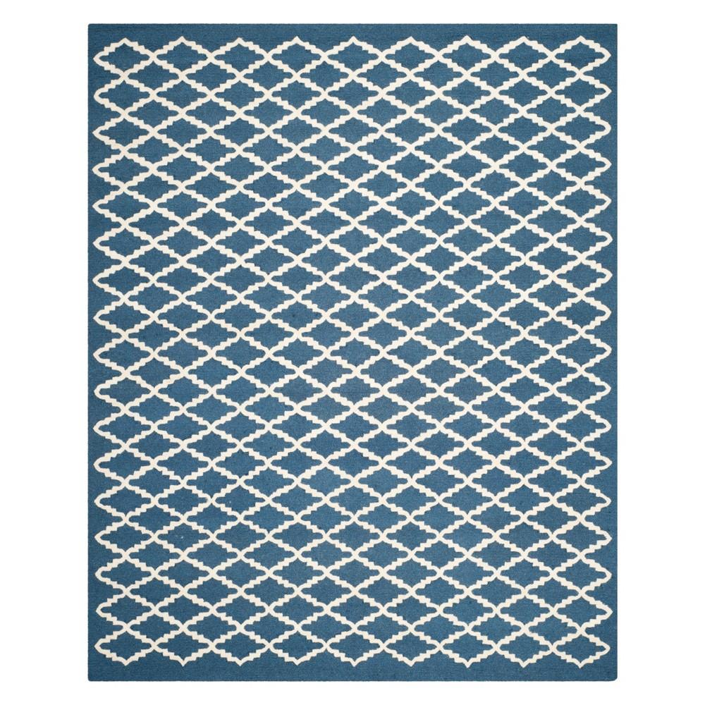 9'X12' Geometric Area Rug Navy/Ivory (Blue/Ivory) - Safavieh