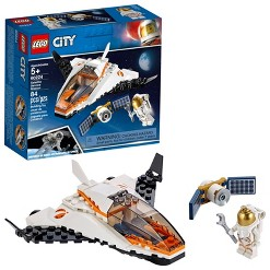 LEGO City Space Satellite Service Mission 60224 Space Shuttle Toy Building Set 84pc