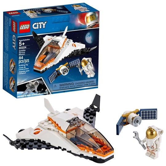 LEGO City Space Satellite Service Mission 60224 Space Shuttle Toy Building Set 84pc image number null