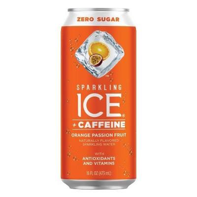 Sparkling Ice +Caffeine Orange Passionfruit - 16 fl oz Can