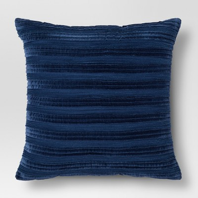 Throw Pillow Pleated Textured Navy - Threshold™