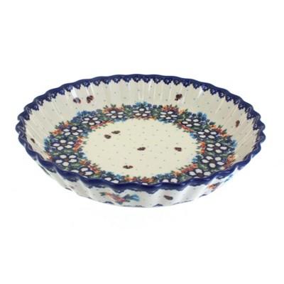 Blue Rose Polish Pottery Scarlett Pie Plate