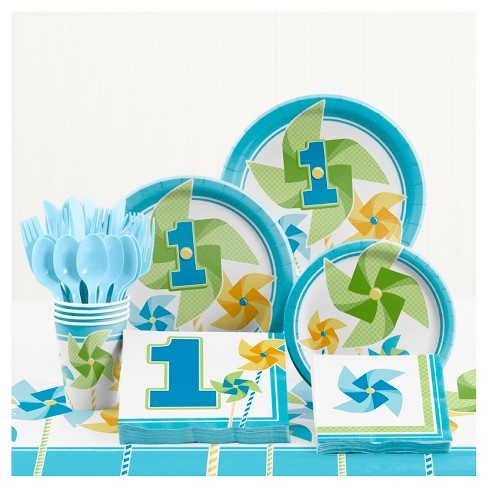 Turning One Boy 1st Birthday Party Supplies Kit Target