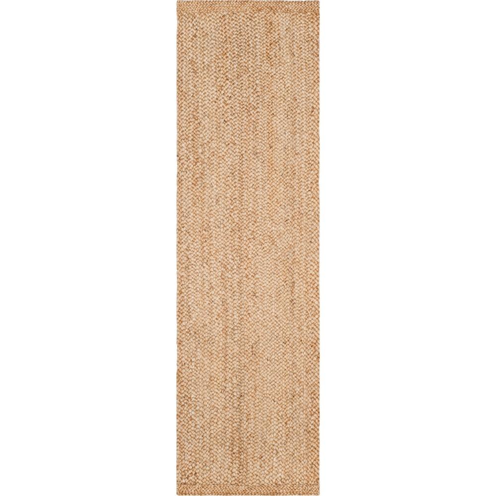 2'6X12' Solid Woven Runner Light Gray - Safavieh, White