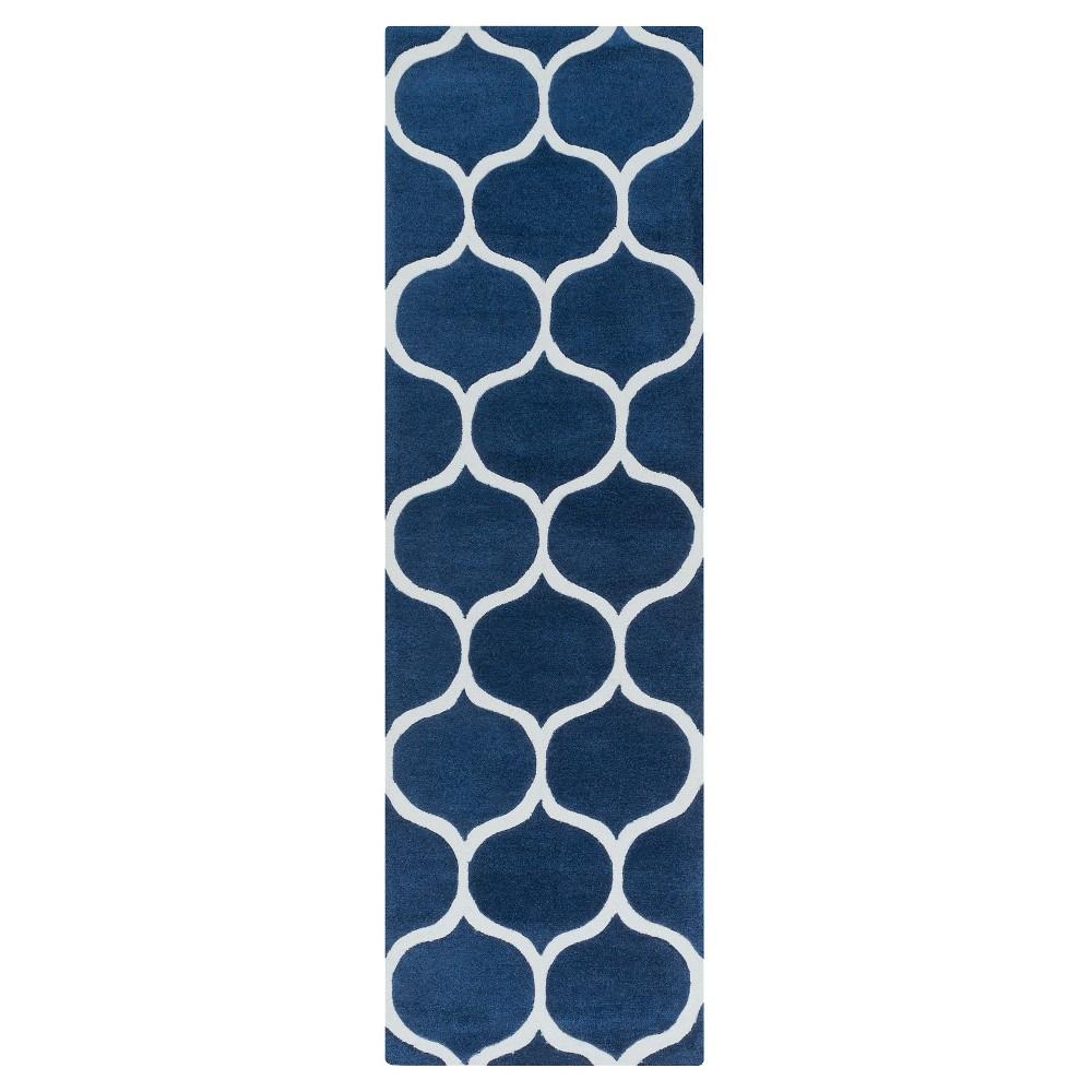 Orlosa Area Rug - Navy (Blue), Ivory - (2'6 x 8') - Surya