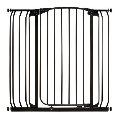 Dreambaby L782B Chelsea 28-42.5 Inch Wide Auto-Close Baby & Pet Wall to Wall Safety Gate with Stay Open Feature for Doors, Stairs, and Hallways, Black