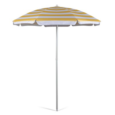 Oniva Portable Beach Stick Umbrella Cabana Stripe - Yellow
