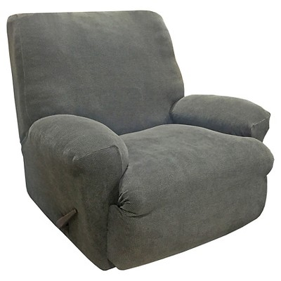 Stretch Oxford Recliner Slipcover Gray - Sure Fit