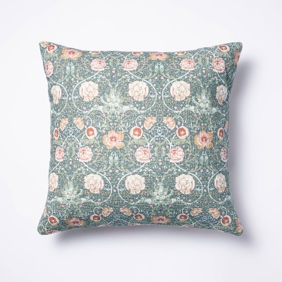 Floral Printed Square Throw Pillow - Threshold™ designed with Studio McGee