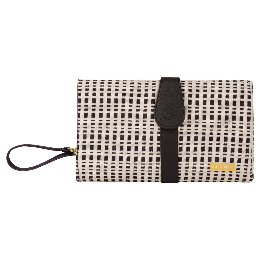 JJ Cole Changing Clutch, Black and Cream