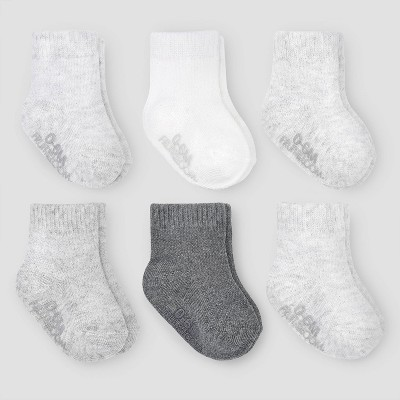 Fruit of the Loom Baby 6pk Crew Breathable Socks - Gray Newborn