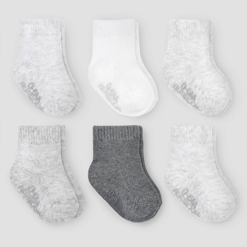 Fruit of the Loom Baby 6pk Crew Breathable Socks - Gray - image 1 of 5