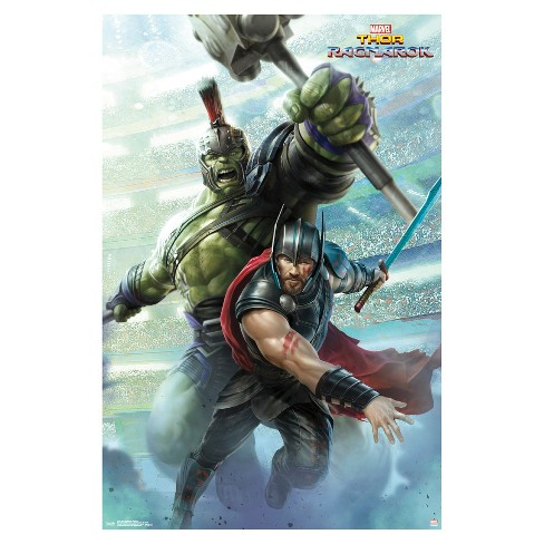 Thor Ragnarok Warriors Poster 34x22 - Trends International - image 1 of 2