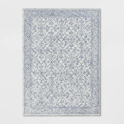 5'X7' Argyle Tufted Area Rug Gray - Threshold™