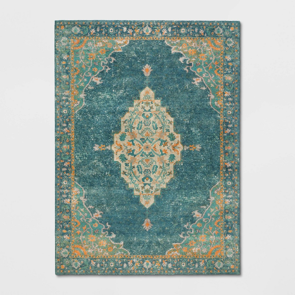 9x12 Paisley Tufted Area Rug Green - Threshold Cheap