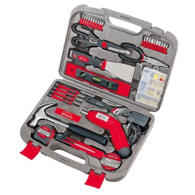 Apollo Tools 135pc Household Tool Kit DT0773 Red