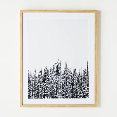 """24"""" x 30"""" Treescape Framed Wall Art Black/White - Threshold™ designed with Studio McGee"""