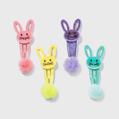 Girls' 4pk Easter Bunny Hair Clip Set - Cat & Jack™
