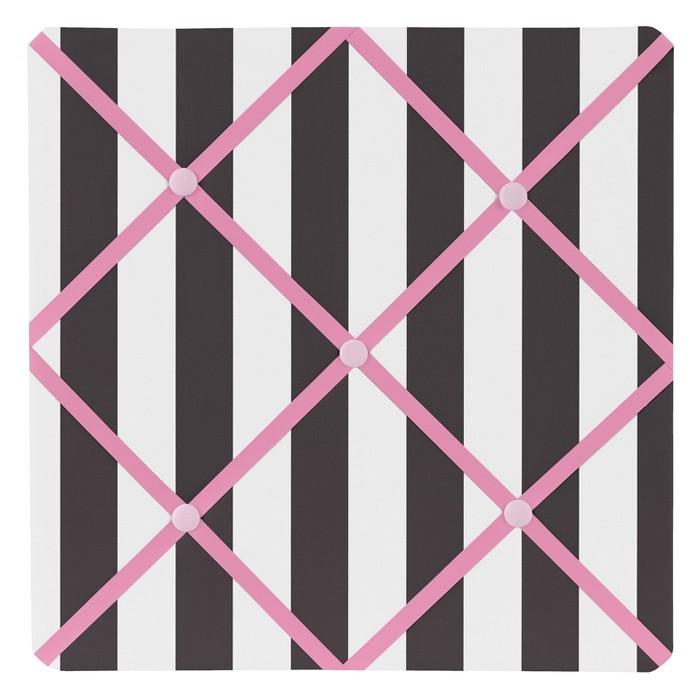 "Pink & Black Paris Photo Memo Board (13""x13"") - Sweet Jojo Designs - image 1 of 2"