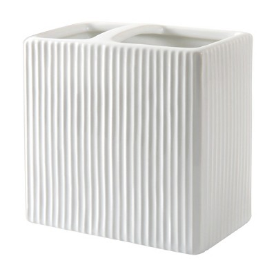 Hotelier Toothbrush Holder Gray/White - Allure Home Creations