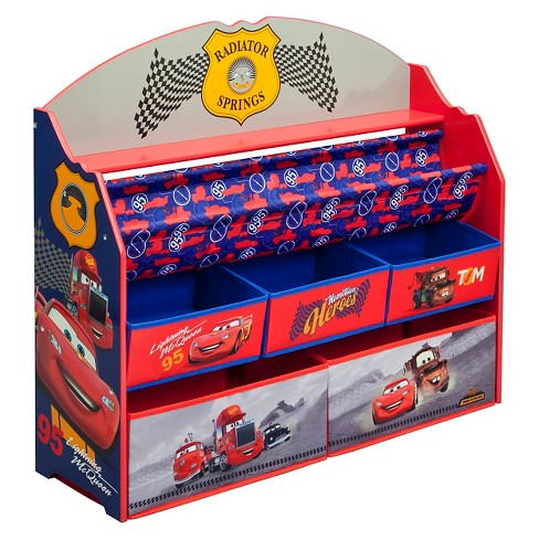 Deluxe Book & Toy Organizer Disney Pixar Cars - Delta Children - image 1 of 4