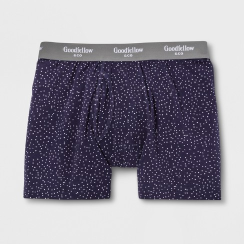 Men's Polka Dot Boxer Briefs - Goodfellow & Co™ Xavier Navy - image 1 of 1