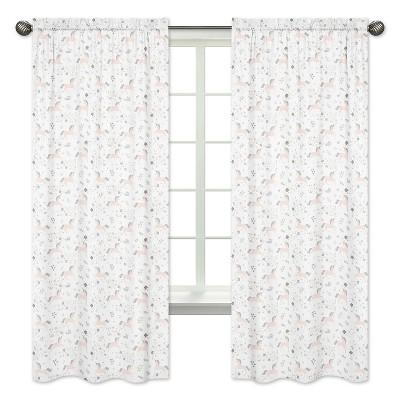 Sweet Jojo Designs Window Panel 2pk - Unicorn