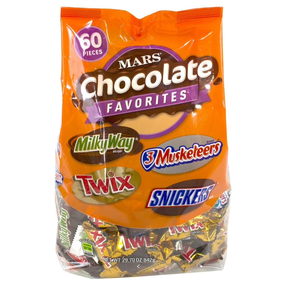 Mars Assorted Chocolate Candy Bars - 29.7oz/60ct
