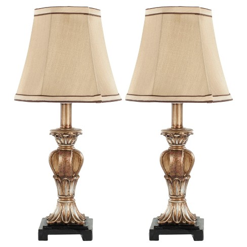 Gabriella Gold Glass Mini Urn Table Lamp Set of 2 - Safavieh - image 1 of 3