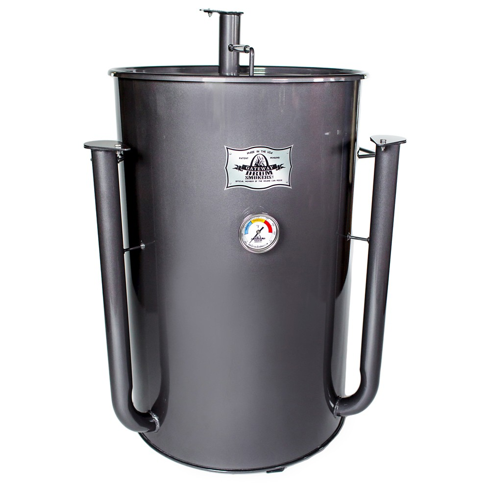Gateway Drum Smoker 55 Gallon – Charcoal, Rich Charcoal 51673066