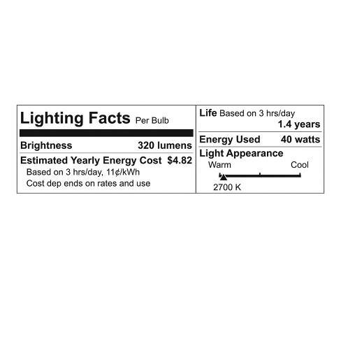 GE Reveal 40-Watt Ceiling Fan Incandescent Light Bulb (2-Pack) - Clear