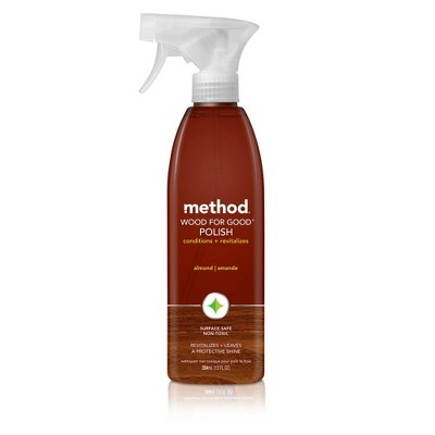Method Cleaning Products Wood for Good Polish Spray Bottle 12 fl oz
