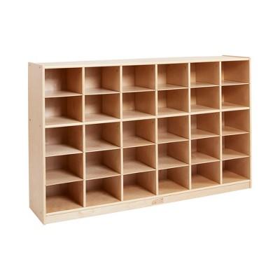 ECR4Kids 30 Cubby School Storage Cabinet - Rolling Cabinet with 30 Bins Slots