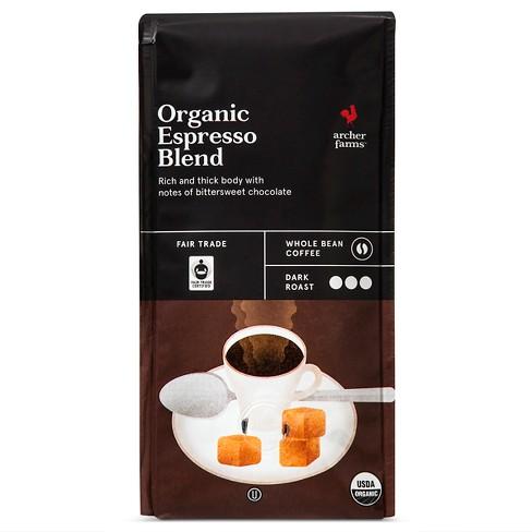Organic Espresso Blend Dark Roast Whole Bean Coffee 10oz Archer Farms