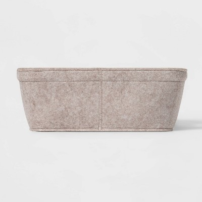 """5""""x11"""" Small Felt Basket With Stitching Oatmeal - Project 62™"""