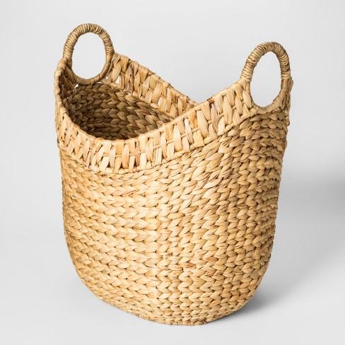 Decorative Oval Basket Water Hyacinth - Threshold™ - image 1 of 2