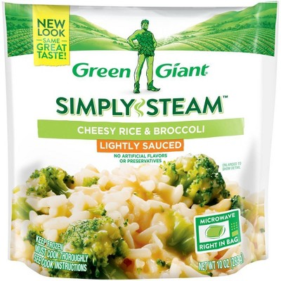 Green Giant Frozen Steamers Cheesy Rice & Broccoli - 10oz