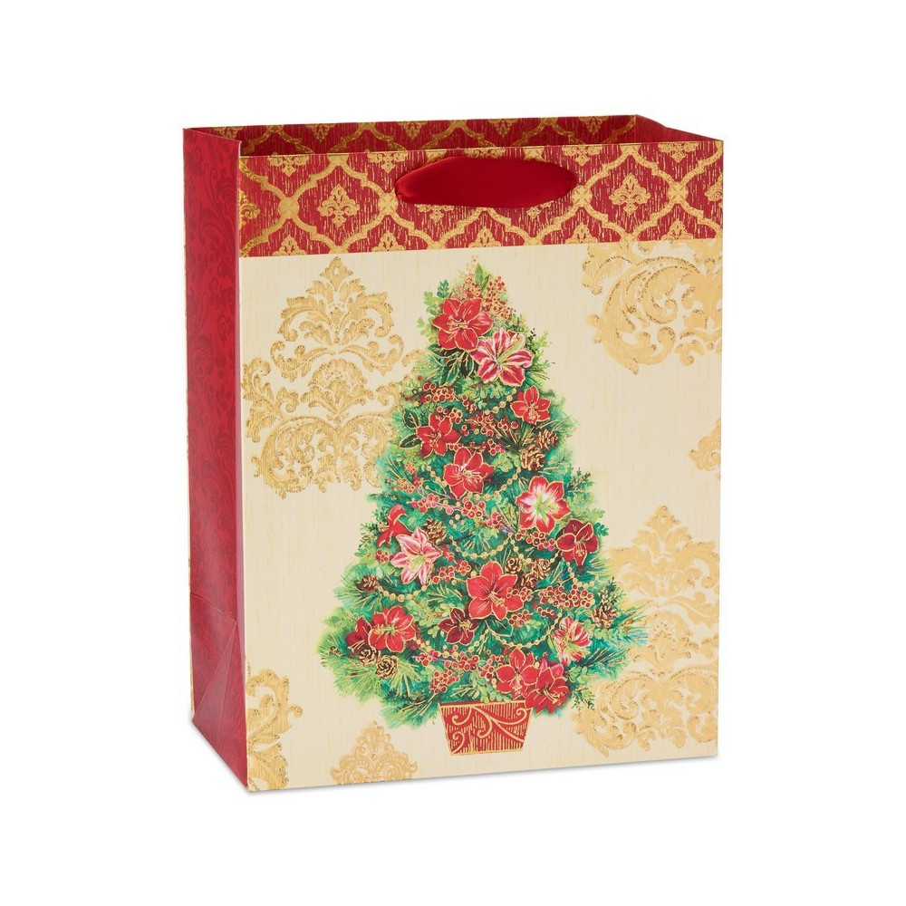 Papyrus Holiday Bloom Large Gift Bag, Multi-Colored