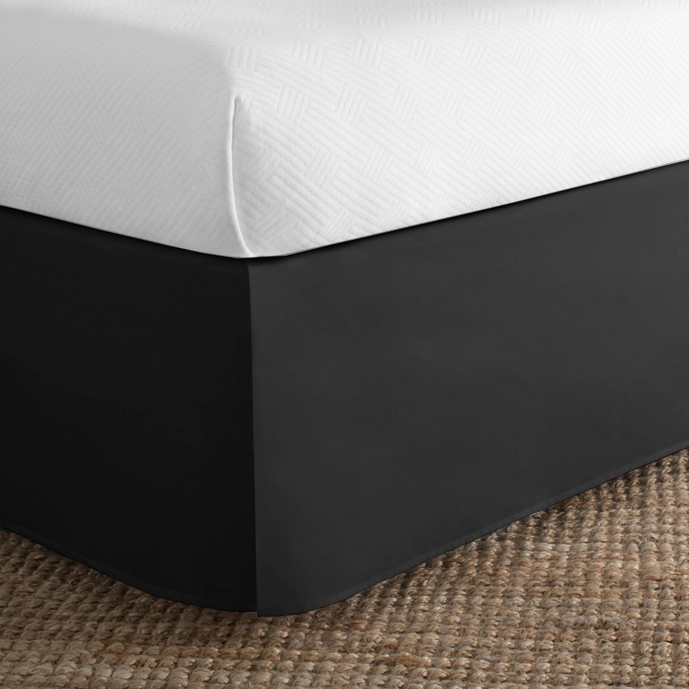Image of Today's Home California King Cotton Rich Bed Skirt Black
