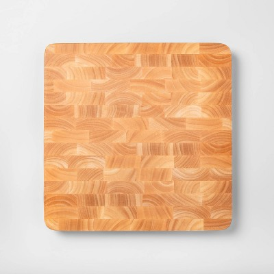 "15""x15"" Nonslip End Grain Wood Chop Block Cutting Board - Made By Design™"