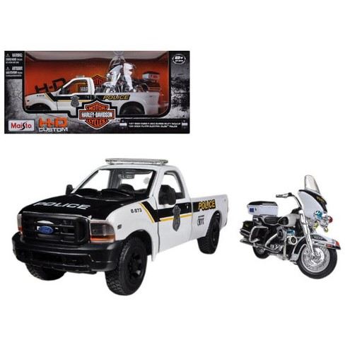 1:24 MAISTO   />/>SALE OUT PRICE/< HARLEY D FORD F-350 POLICE ELECTRA GLIDE